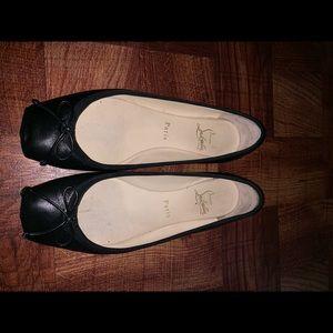 CHRISTIAN LOUBOUTIN Nappa Rosella Flats 8.5 Black